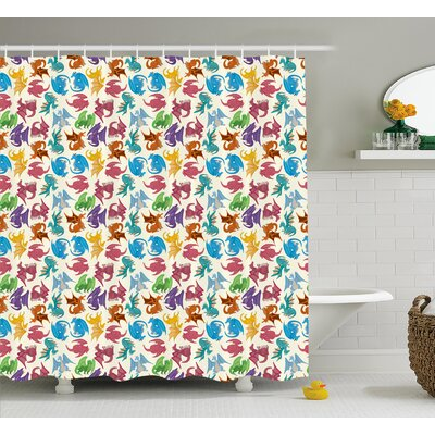 Margo Children Pattern Colored Shower Curtain Size: 69 W x 84 L
