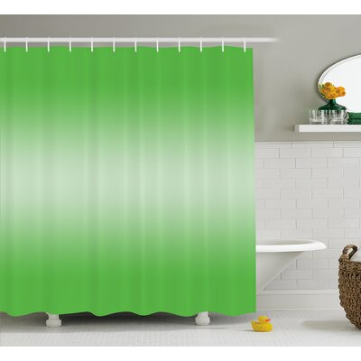 Inspired Digital Spring Grass Art Shower Curtain Size: 69 W x 70 L
