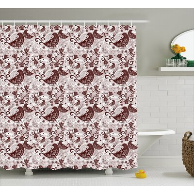 Merriman Valentine Flowers Shower Curtain Size: 69 W x 84 L