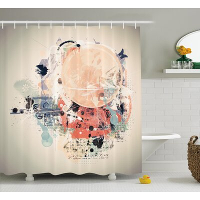 Grant Grunge Mix Collage Shower Curtain Size: 69 W x 75 L
