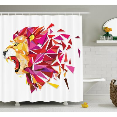 Evette Lion King Figure Shower Curtain Size: 69 W x 84 L