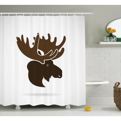 Auburn Canadian Deer Head Shower Curtain Size: 69 W x 75 L