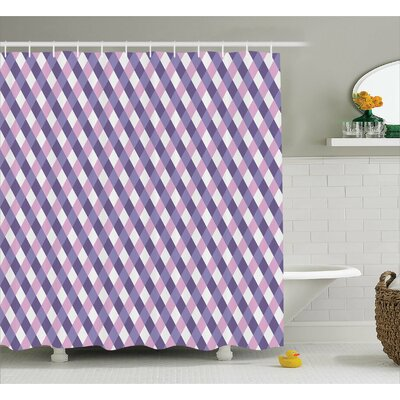 Baucau Mosaic Crossed Pattern Shower Curtain Size: 69
