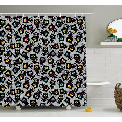 Marcella Spiritual Kitten Pet Animal Shower Curtain Size: 69 W x 75 L