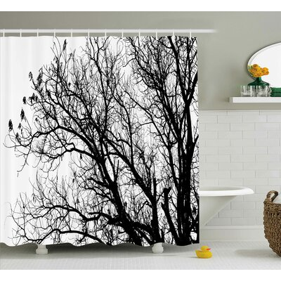 Borden Autumn Fall Tree Branch Shower Curtain Size: 69 W x 84 L