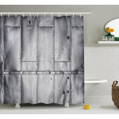 Mckenzie Metal Future Decor Shower Curtain Size: 69 W x 75 L