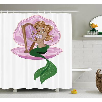 Kael Fairytale Mermaid Art Shower Curtain Size: 69 W x 75 L