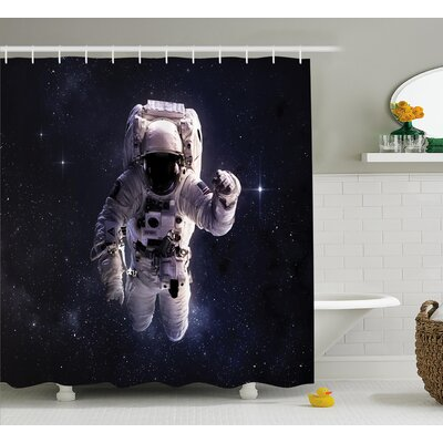 Stardust Nebula Space Shower Curtain Size: 69 W x 75 L