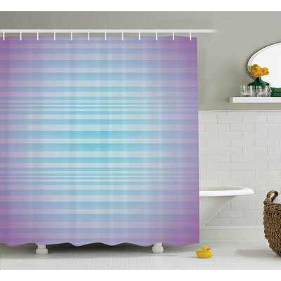 Enrique Minimalist Stripes Shower Curtain Size: 69 W x 75 L