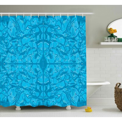 Holly Water like Modern Decor Print Shower Curtain Size: 69 W x 75 L