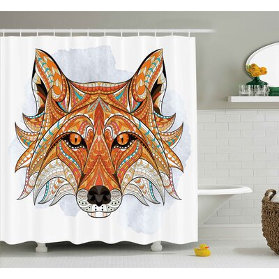 Tribal African Animals Totem Shower Curtain Size: 69 W x 70 L