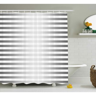 Enrique Horizontal Zebra Stripe Shower Curtain Size: 69 W x 70 L