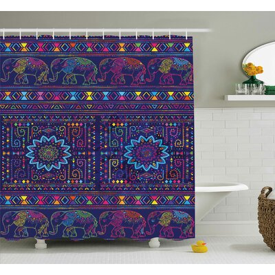 Alessandra Middle Eastern Persia Shower Curtain Size: 69 W x 75 L