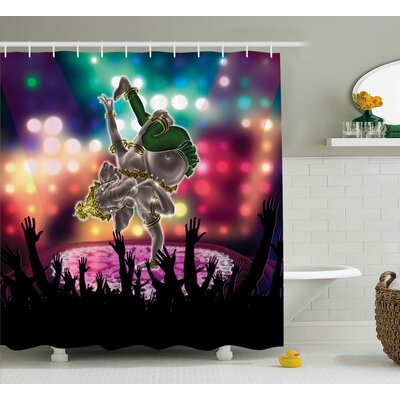 Mystic Indian Elephant God Shower Curtain Size: 69 W x 84 L