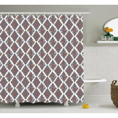 Bean Indian Floral Pattern Shower Curtain Size: 69 W x 84 L