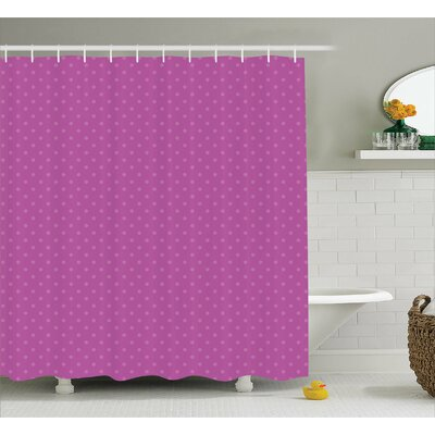 Emanuel Spots Polka Shower Curtain Size: 69 W x 75 L