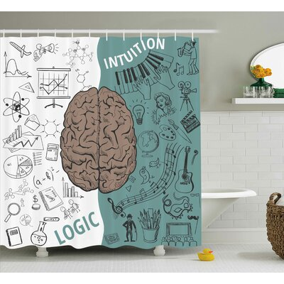 Gage Decor Music Logic Brain Shower Curtain Size: 69 W x 84 L