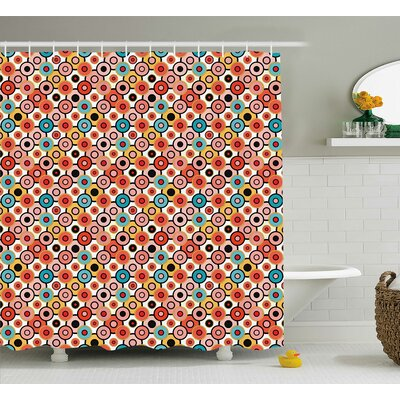Baltazar Retro Style Bubbles Shower Curtain Size: 69 W x 84 L