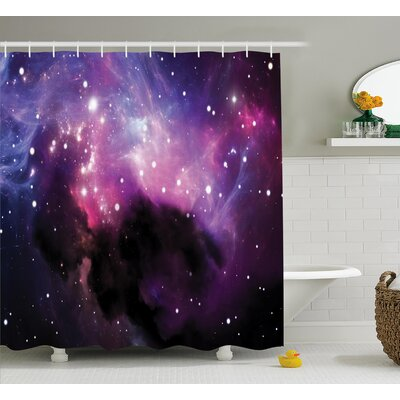 Helga Nebula Cosmos Explosion Shower Curtain Size: 69 W x 70 L