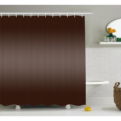 Inspired Modern Natural Wood Art Shower Curtain Size: 69 W x 75 L