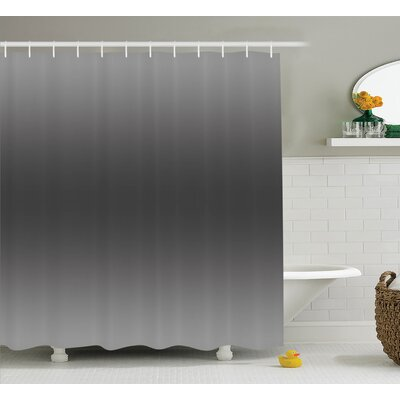 Inspired Smokey Modern Design Shower Curtain Size: 69 W x 84 L
