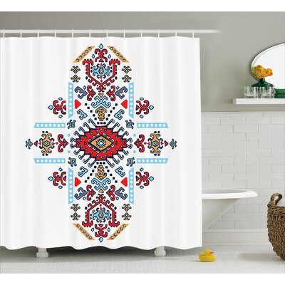 Coyan Mexican African Pattern Shower Curtain Size: 69 W x 84 L