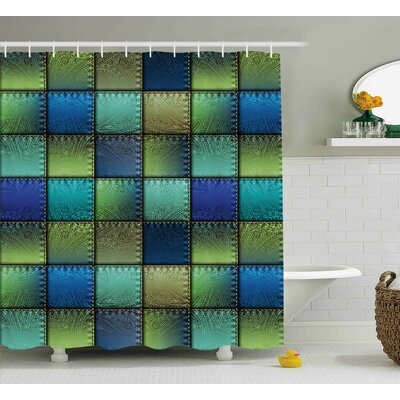 Franco Modern Geometric Bohem Shower Curtain Size: 69 W x 84 L