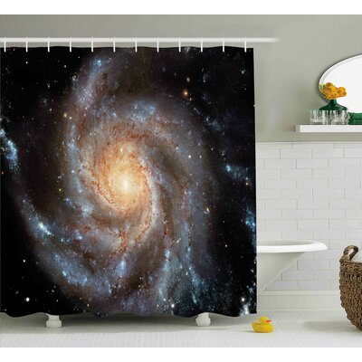 Star Disc in Huge Space Shower Curtain Size: 69 W x 84 L