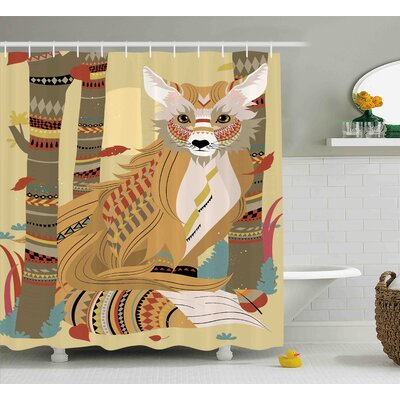 Justus Fluffy Justus in the Forest Shower Curtain Size: 69 W x 84 L