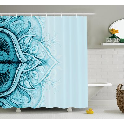 Florie Ethnic Ornamental Lace Shower Curtain Size: 69 W x 84 L