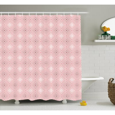 Cadencia Rhombus Stripes Line Shower Curtain Size: 69 W x 84 L