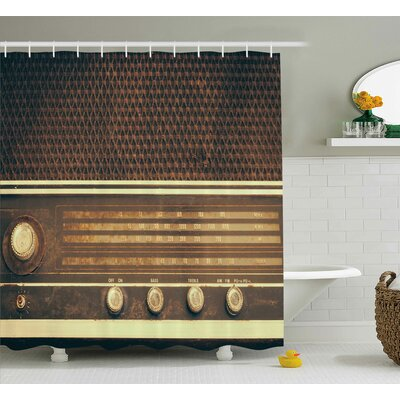 Banda Retro 60s Music Style Shower Curtain Size: 69 W x 84 L