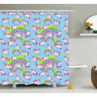 Sheldon Cute Cartoon Childish Shower Curtain Size: 69 W x 70 L