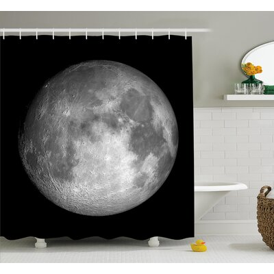 Trippy Moon Planet Space Shower Curtain Size: 69 W x 75 L