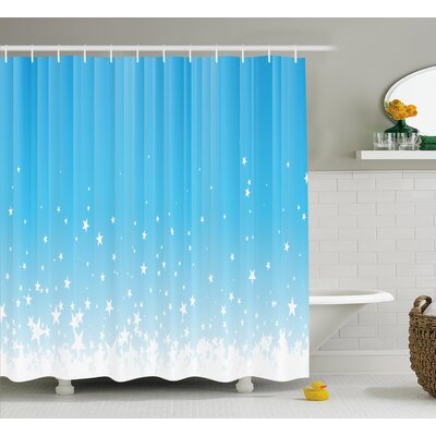 Marianne Star Vibrant Celestial Shower Curtain Size: 69 W x 75 L