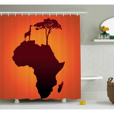 Avia Safari Wild Animals Shower Curtain Size: 69 W x 84 L