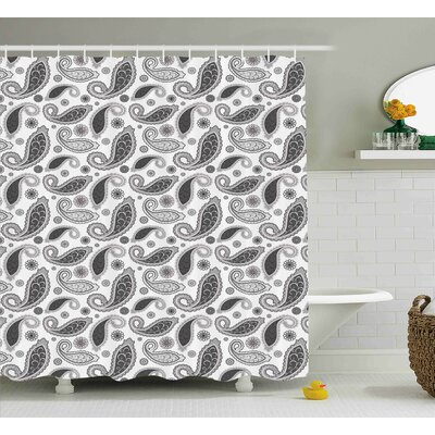 Hakeem Oriental Florets Leaf Shower Curtain Size: 69 W x 70 L