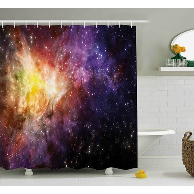 Nebula Explosion View Shower Curtain Size: 69