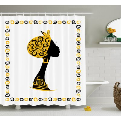 Avia Ethnic Tribal Portrait Shower Curtain Size: 69 W x 75 L