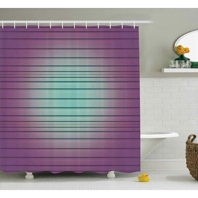 Flores Vivid Paralel Lines Shower Curtain Size: 69 W x 70 L