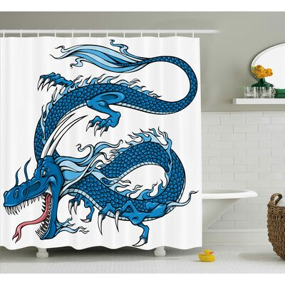 Lucy Dragon Myth Creature Shower Curtain Size: 69 W x 70 L