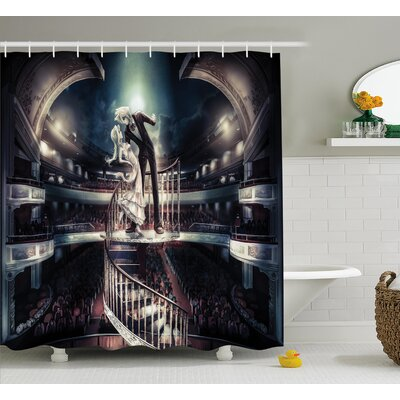 Anime Decor Vintage Japanese Shower Curtain Size: 69 W x 75 L