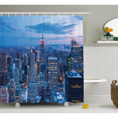 Bequette Sunset in NYC Photo Shower Curtain Size: 69 W x 75 L
