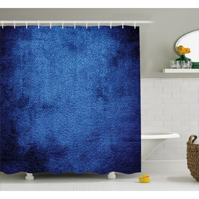 Cateline Dark Blue Contemporary Shower Curtain Size: 69 W x 75 L