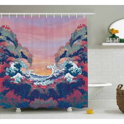 Ocean Colorful Fantasy Sealife Shower Curtain Size: 69 W x 70 L
