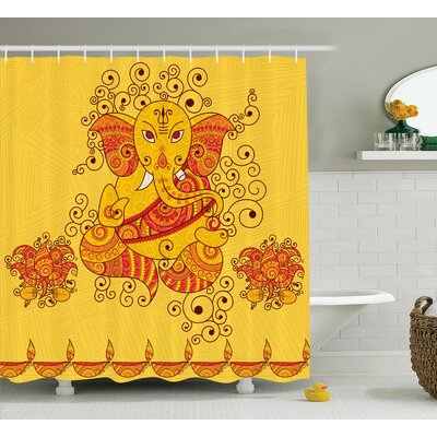 Beldin Indian Art Bohemian Shower Curtain Size: 69 W x 70 L