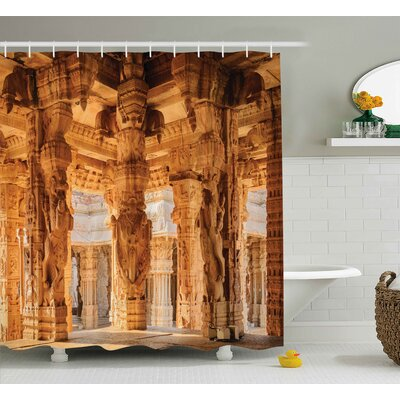 Bretta Famous Indian Monument Shower Curtain Size: 69 W x 75 L