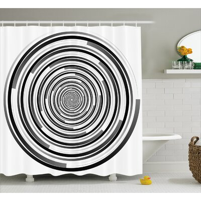 Bima Abstract Art Spirals Shower Curtain Size: 69 W x 84 L