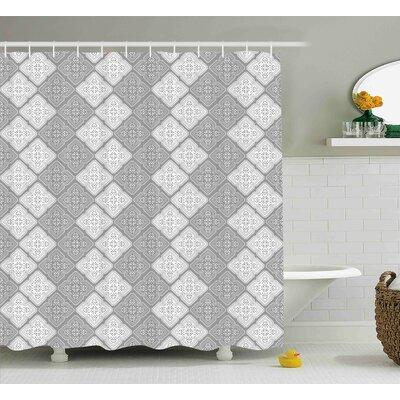 Prompton Victorian Oriental Retro Shower Curtain Size: 69 W x 84 L