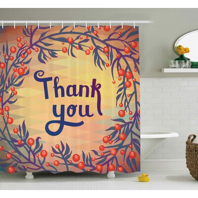 Adelaide Christmas Theme Flowers Shower Curtain Size: 69 W x 70 L